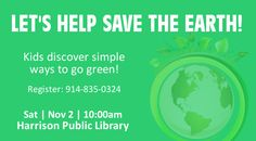 Let's Help Save The Earth!