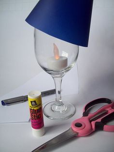 How to make a custom candlelight lamp from a wine glass | Offbeat Bride