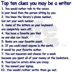 "Writer Clues 2.25"" Magnet (10 pack) on CafePress.com"