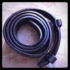 I just added this to my closet on Poshmark: JIL SANDER Black LEATHER BELT Adjustable UNISEX. Price: $125 Size: Medium