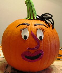 Ooo La La! Halloween Ideas & Projects By Glue Dots Adhesives, Decorate Pumpkins with Glue Dots!