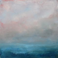 ... Dawn- Abstract Ocean Landscape Oil Painting small ... | Art. O