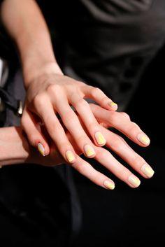 Color-blocked Nails at Christian Siriano Spring 2014