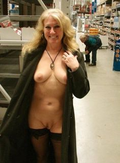 Something Nude women public store