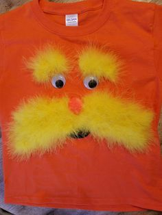Diy dr seuss lorax costume super easy i used 2 different shades diy lorax costume shirt for dr seuss day solutioingenieria Gallery