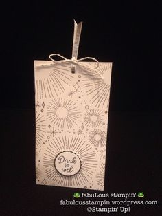 Stampin' Up! Manual - gift bag tea cookies special gift