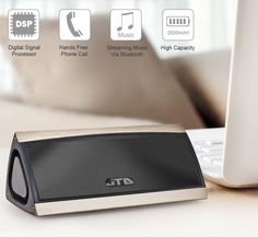 Portable Wireless Bluetooth Speaker W 3D Surround Stereo Sound & Full Metal Housing
