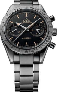 """Baselworld 2015 – Omega Speedmaster 57 Co-Axial revisited with Broad Arrow Hands and new dial – Specs & Price"" via Dream Watches, Fine Watches, Luxury Watches, Men's Watches, Omega Speedmaster 1957, Omega Seamaster, Amazing Watches, Cool Watches, Watches For Men"