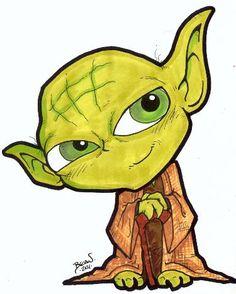 Chibi-Yoda. by hedbonstudios.deviantart.com on @deviantART