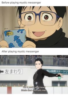 Yuri!!! On Ice is where the screecaps come from (if you didn't know)