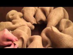How to make a Burlap Wreath - YouTube