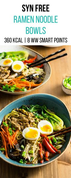 Noodle bowls slimming world weight watchers 8 weight watchers smart points Slimming Eats, Slimming Recipes, Ww Recipes, Cooking Recipes, Healthy Recipes, Cooking Ideas, Slimming Workd, Ramen Recipes, Healthy Meals