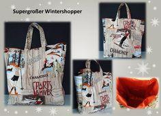 *WINTER - SHOPPER* von Elkes Kreativstübchen auf DaWanda.com