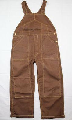 vintage workwear: Deadstock 1950's Lee dark duck overalls
