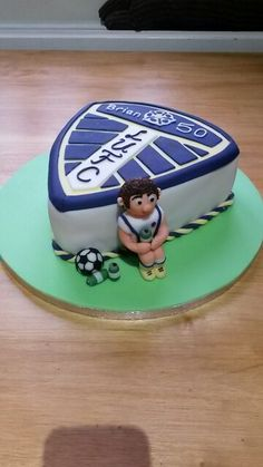 Leeds United Football Shield Birthday Cake Dylan's