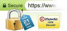 Secure SSL Up to 256-bit Encryption Free Reissues Included Maximum Browser Compatibility