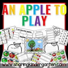 apple theme kindergarten lessons