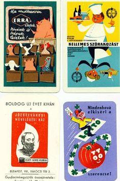 Hungarian mid-century pocket calendars
