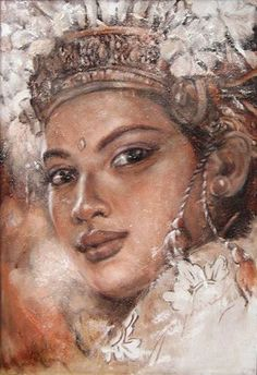 Impressioni Artistiche : ~ Josephine Linggar ~ Bali Painting, Woman Painting, Indonesian Art, Dutch Painters, Light Of Life, Traditional Paintings, Art Drawings, Drawing Art, Horror Art