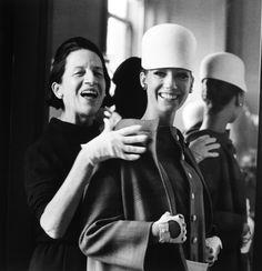 Diana Vreeland with model Marisa Berenson