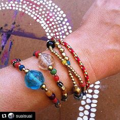 #Repost @suaisuai  #new #bracelets  in the #shop tomrow --------> http://ift.tt/1AGo1eS #tradingbeads #thaibeads #multicolor #dots #handmade #yogastyle #hippiechic  #etsy #etnic #tribal #oneofakind #ooak #yogajewellery #gypsyjewellery #gypsy