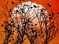 """Страна заходящего солнца"". © L.A. Man (http://fotki.yandex.ru/users/l-a-man/). #Bird #Birds #Tree #Trees #Sunset #Sunsets #Sundown"