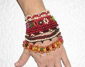 Jewelry / Bracelet  Beadwork Free form  crochet bracelet
