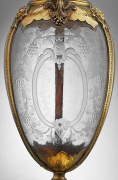 Primer plano de vidrio grabado