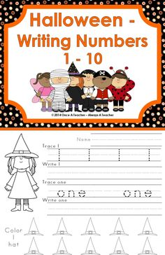 This Halloween product includes a variety of number skills. It covers numbers 1-10.   The worksheets direct students to trace a digit, then write the digit. They will also trace the number word and write the number word. To complete the worksheet the students will count and color a specific number of Halloween pictures.   If you like this packet of worksheets be sure to check out my store  to see other early elementary products.