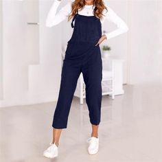 d1425fa036b Women Spaghetti Strap Wide Legs Bodycon Jumpsuit Trousers Clubwear Rompers  2018 summer womens romper Loose Dungarees