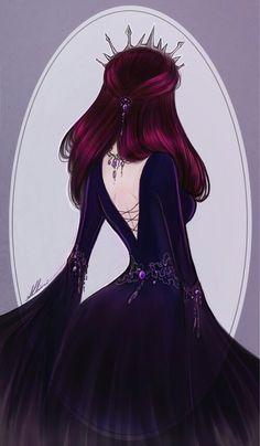 Next Evil Queen by AShiori-chan, Raven Queen, Ever After High Raven Queen, Evil Queens, Queen Art, Ever After High, Drawing Clothes, Beautiful Anime Girl, Girl Wallpaper, Queen Wallpaper Crown, Flower Wallpaper