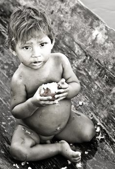 Warao baby on the Orinoco Delta (Venezuela)