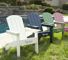 Adirondack Chairs ~ Pottery Barn ~ $79.00 (Personalized) Pink~Ava