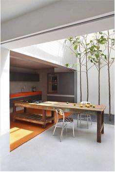 Interior garden in the kitchen. Beautiful!