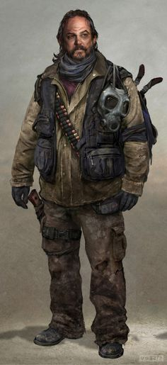 The Last Of Us concept art   BILL. My favourite character in the game. :D