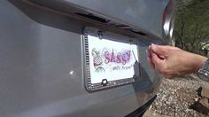 How to remove a Bling License Plate Frame from www.SassyAutoFrames ...