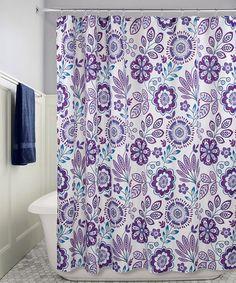 Purple Floral Shower Curtain