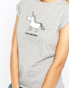 Image 3 of ASOS T-Shirt With I Am Unicorn Print