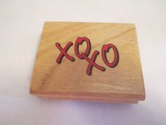 Used XOXO Wooden Stamp Craft Supplies by jenuinecraftsandmore