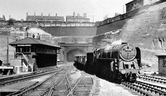 Nottingham Victoria Station, Mansfield Road tunnel. 1950s.
