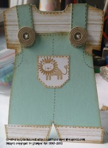 Baby coverall card (with template)