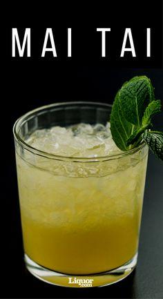 Mai Tai Cocktail in a glass with garnish.
