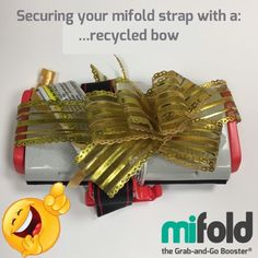 Before throwing the wrapping paper and bow away, think about using it to tie around the mifold, so it always looks like a nice gift.