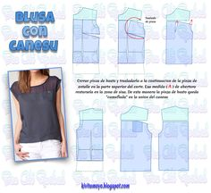 Tremendous Sewing Make Your Own Clothes Ideas. Prodigious Sewing Make Your Own Clothes Ideas. Dress Sewing Patterns, Clothing Patterns, Sewing Tutorials, Sewing Hacks, T Shirt Tutorial, Crochet Mandala Pattern, Sewing Blouses, Modelista, Make Your Own Clothes