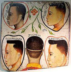 Indigo Arts Gallery | African Barber Signs | Ivory Coast