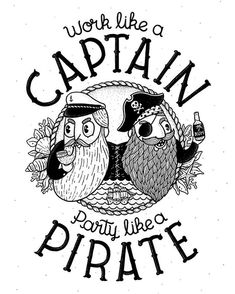 Commissioned illustration for Heidy. This is the first time as an illustrator that someone (not a brand) commissions something like this, I'm really happy to see how people conceive illustration nowadays. Keep working and partying Heidy! Sea Illustration, Illustration Artists, Diy Art, Crow, The One, Pirates, First Time, Logo Design, Humor