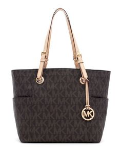 MICHAEL Michael Kors Jet Set Logo Tote. <3 Saving up for this beauty once I've reached my weight loss goal! :)