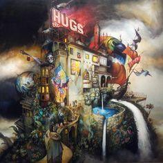 inspiring art from great artists like esao andrews at the long beach museum of art. #badaboom #bigbadaboom #esaoandrews #hugsetc #oil #canvas @esao (at Long Beach Museum of Art)