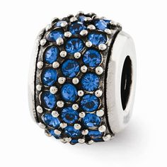 Reflection Beads: Sterling Silver Blue Swarovksi® Elements