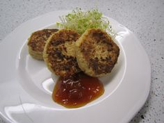 Chickpea fritters with pear chutney  A delicious vegetarian option for your child's lunch box